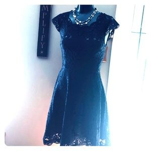 Beautiful Navy Blue Lace Dress